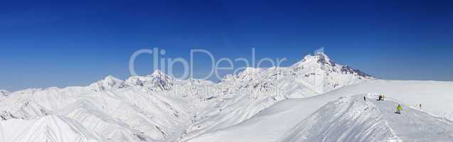 Panoramic views of Mount Kazbek