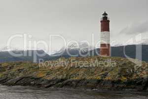 Lighthouse Les Eclaireurs on the Beagle Channel