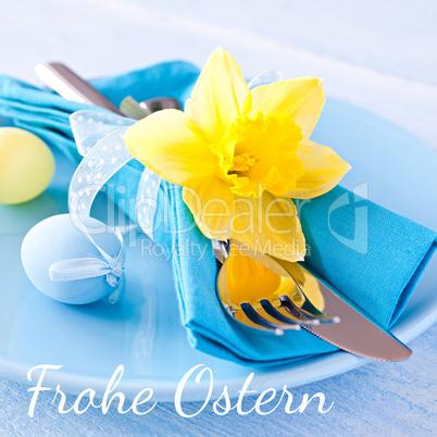 Ostertisch / easter table setting