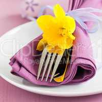 Gedeck zu Ostern / place setting for easter