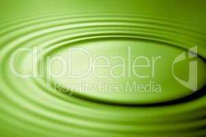 Green ripple in water