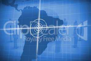 Digital global grid focusing on south america