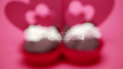 Two valentines cupcakes