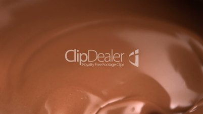Melted chocolate mixing