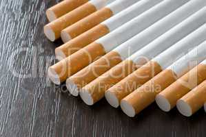 Cigarettes on the black table