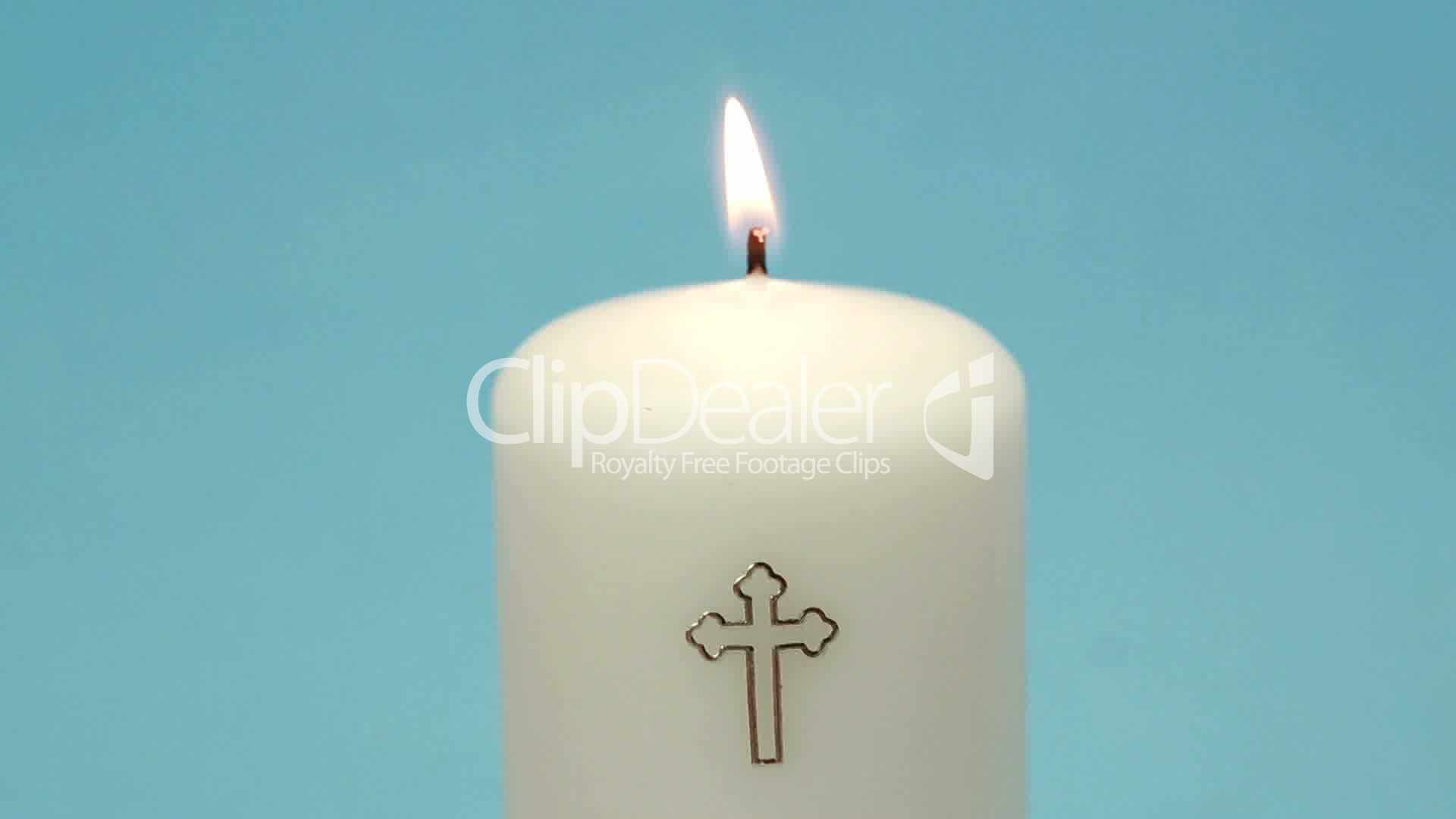 Christian Candle Burning Royalty Free Video And Stock Footage