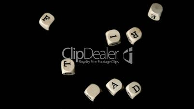 Fair trade dice falling together