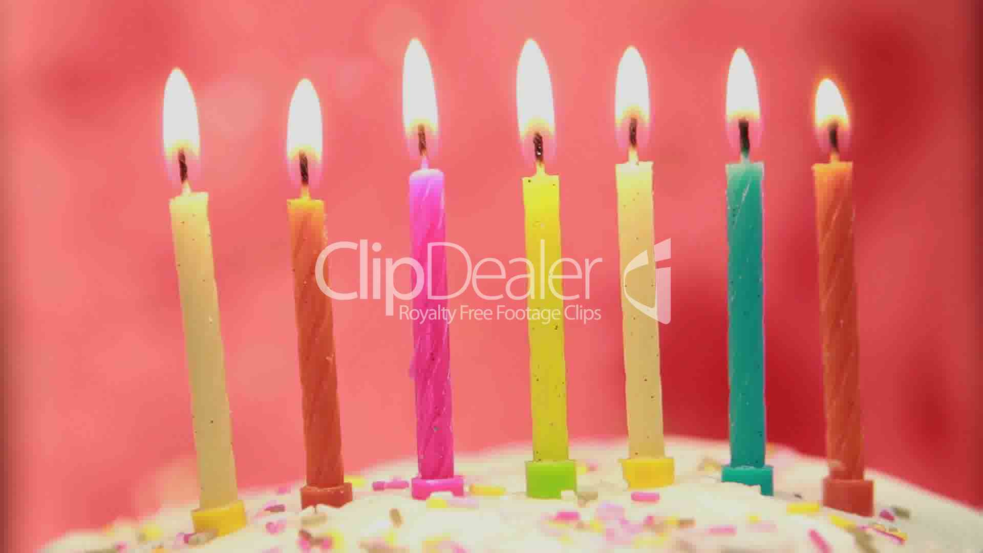 Birthday Candles On Cake Being Lit Lizenzfreie Stock Videos Und Clips