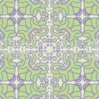 Fluffy Green Tile Pattern