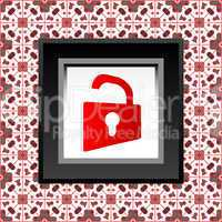 protect icon - red opened padlock icon