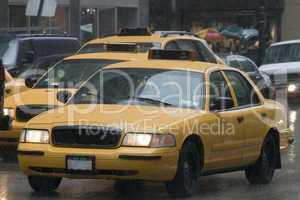 NYC Taxi im Regen