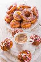bismarck doughnuts on a plate