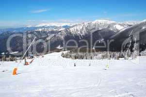 Free ride area on Chopok in Jasna ski resort, Low Tatras, Slovak