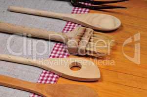 alte Holz Kochlöffel