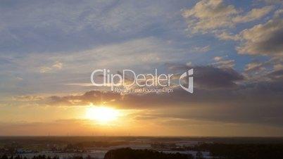 sundown winter clouds time lapse 10870