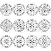 Car  alloy wheels, vector illustration