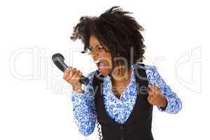 Schreiende Afroamerikanerin