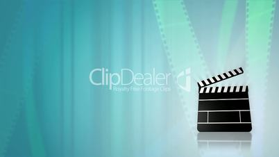 Film Reels and Clapper Slate