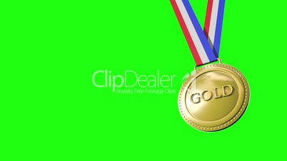Gold Silver Bronze Medals Greenscreen HD