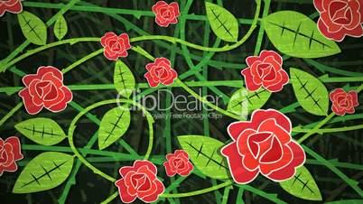 Red Rose Bush Loop HD