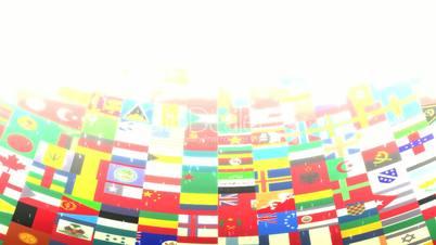 World Flags HD Loop