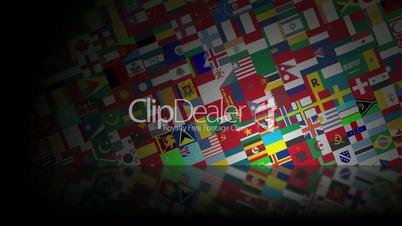 World Flags Reflected HD Loop