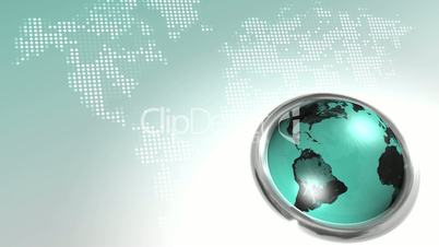 World Map Button HD Loop