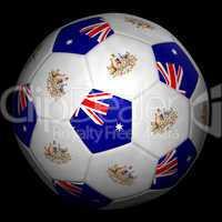 Fussball mit Fahne Australien