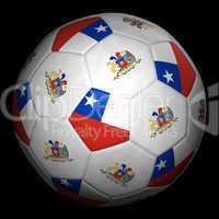 Fussball mit Fahne Chile