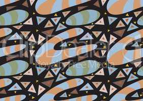Abstract Underground Worm Pattern