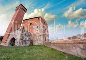 Pisa. Wonderful view at sunset of ancient Citadel Tower
