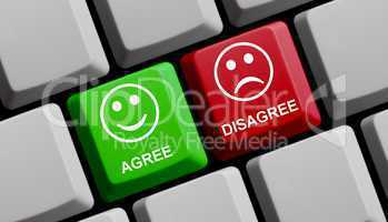 Agree / Disagree - Zustimmung und Ablehnung online