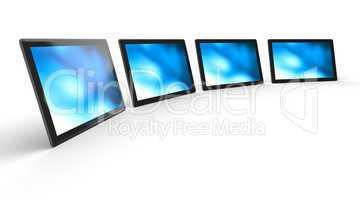 3D Tablet-PC Schwarz in Reihe 1