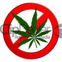 Sign forbidden cannabis