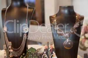 Jewelry at the shop window