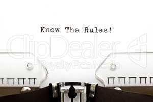 Know The Rules Typewriter