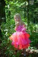 Little girl in fairy costume
