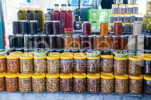 canned olives at the village market