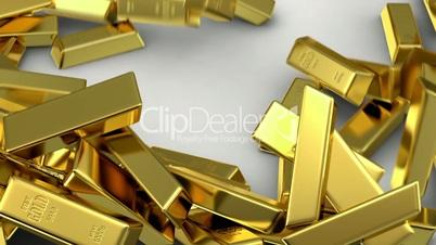 falling gold bars fills the screen