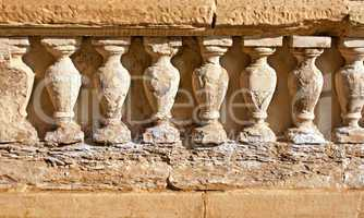 Weathered sandstone columns