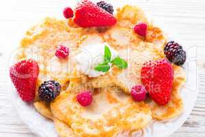 Pancake. Crepes With Berries