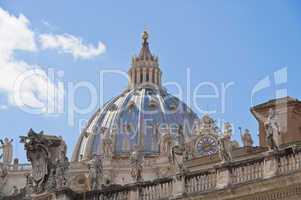 The Dome of Saint Peter's Basilica in Rome