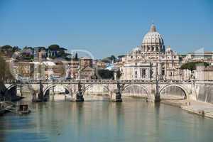 Saint Peter seen from the Tiber