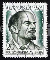 postage stamp yugoslavia 1960 lenin, by s. stojanovic