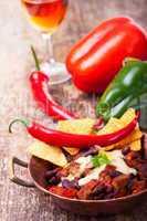Chili Con Carne in einer Schüssel