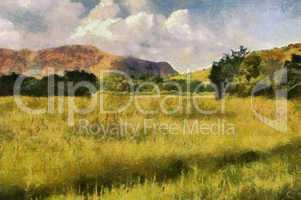 Picturesque Grassland Painting