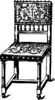 baroque antique chair