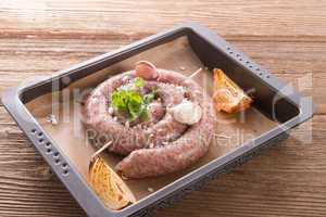 home-baked sausage