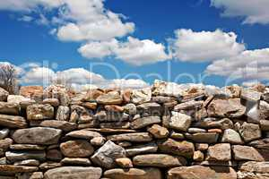Dry stone wall on summers day