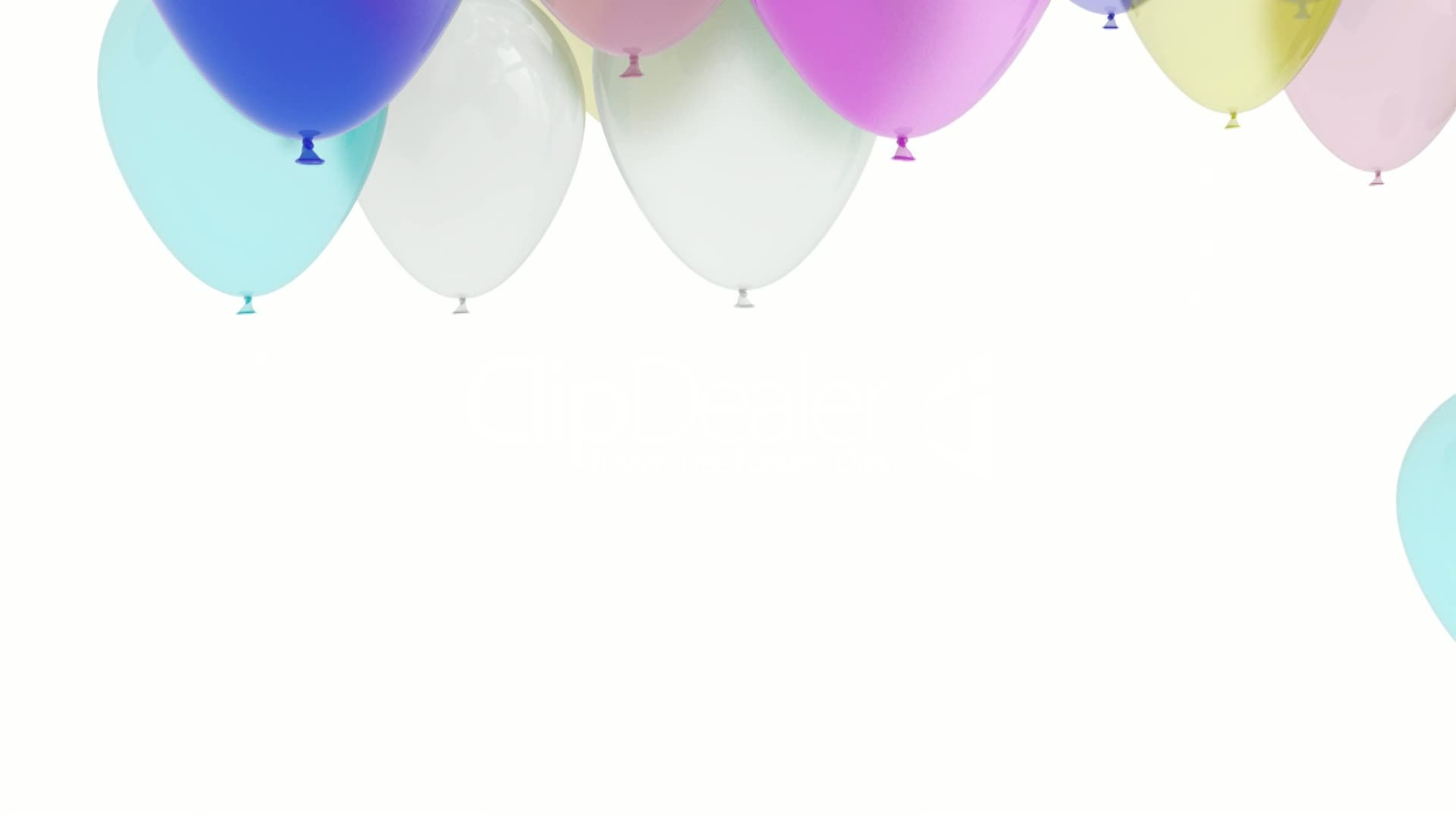 3D Balloons White Background: Royalty-free video and stock ...